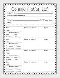 parent communication printable log free u0026 editable parent