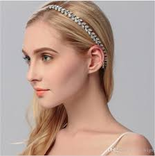 hair accessories for prom new handmade wedding bridal prom women headband silver plated