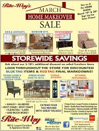 Home Makeover Tv Show by March Home Makeover Sale Going On Right Now At Rite Way Furniture