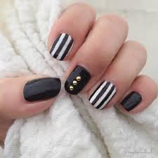 white stripes nail design blue and white stripe wedding nails