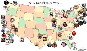 Caltech Campus Map Post Grad Problems The Big Map Of College Movies