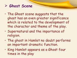 supernatural themes in hamlet some important scenes in hamlet