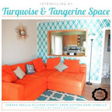 Turquoise And Orange Bedroom Turquoise And Tangerine Room Idea Stencil Stories