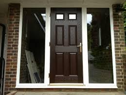 Composite Exterior Doors Best Front Doors White With Darkwood Grp Composite Front