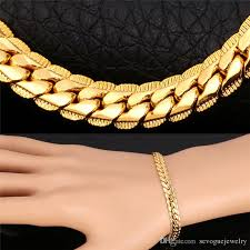 rose gold snake necklace images Men jewelry classic bracelet snake link chain three color 18k gold jpg
