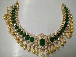 emerald gold necklace images Gold emerald necklace with south sea pearls emerald necklace jpg
