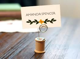Wedding Table Number Holders Vintage Wood Thread Spool Wedding Table Number Holder Escort Card