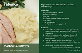 cauliflower mashed potatoes recipe medifast california