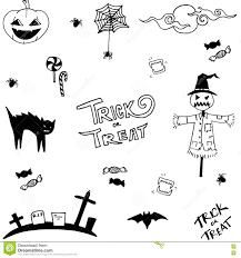 scary halloween in doodle vector art stock vector image 72916018