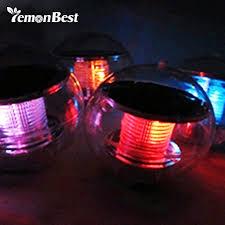 solar power led floating night light ball waterproof multi color