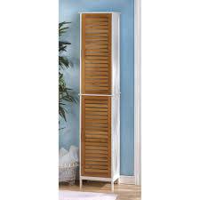linen storage tower bathroom cabinet shelves tall wood towel