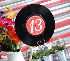 themed table numbers 7 vinyl record wedding table names numbers wedfest