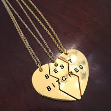 friend heart necklace images Best friend necklace friendship necklace best friends forever jpg