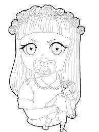 melanie martinez fan art coloring book u2022crybabies u2022 amino
