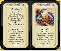 Dining Edgewater Place Plain City Ohio - Dining room menu