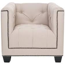 Linen Club Chair Safavieh Bentley Taupe Linen Club Arm Chair Mcr4574a The Home Depot