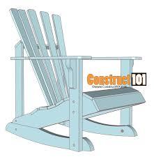adirondack rocking chair plans material list
