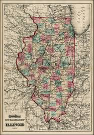 Map Of Illinois by Gray U0027s Atlas New Railroad Map Of Illinois 1873 Barry Lawrence