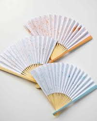 paper fans speckled painted paper fans martha stewart