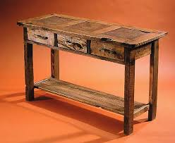 Rustic Sofa Table by Rustic Console And Sofa Tables In Barnwood And Stone Tile Custom