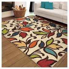 Green And Brown Area Rugs Orian Rugs Dicarna Promise Transitional Area Rug Cream Target