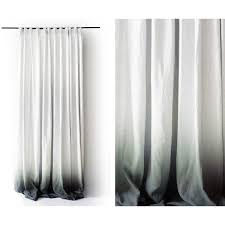White Window Curtains Ombre Linen Drapes Grey Fade To White Pinch Pleat Window Curtain
