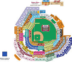 Mlb Map Ada Information Cardinals Com Ballpark Information