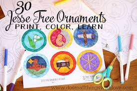 tree ornaments to print and color do small things with