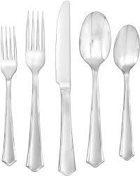 modern silverware flatware set piece stainless steel cutlery silverware dining