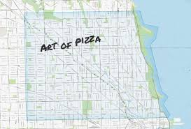 Chicago Map Art by Chicago Pizza Delivery Map Piece Salernos Pequods And More