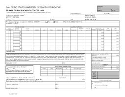 Expenses Report Sample Travel Reimbursement Form Template It Resume Cover Letter Sample