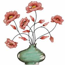 Vase Wall Decor Flowers In Swirl Vase Wall Decor Jcpenney