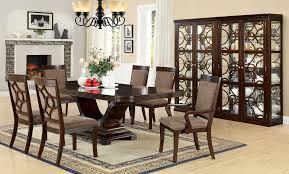 Solid Wood Formal Dining Room Sets Wonderful Dining Room Pedestal Table Set Home Interior Design