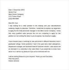 retail cover letters cover letter template retail sample retail