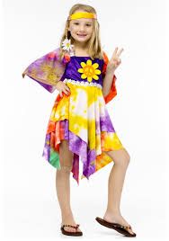 kid grease halloween costumes girls flower power hippie costume retro costume ideas for kids