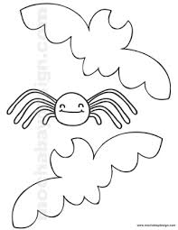 printable halloween coloring bats spider