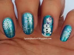 elsa forzen disney nail arts kids fun fans