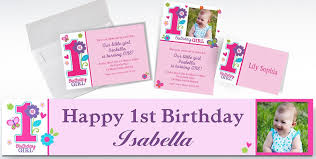 custom 1st birthday invitations party city