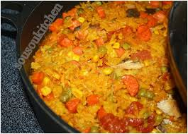cuisine de sousou paella à la sousou اكلة رز recette de riz cuisine marocaine et