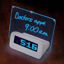 Coolest Clock by The Written Reminder Alarm Clock Hammacher Schlemmer
