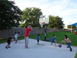 backyard basketball court dimensions top u2014 home design lover
