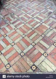 brick and ceramic tile floor with and bricks with small