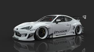 subaru brz white black rims bunny pandem wide body aero kit v3 w o wing scion frs