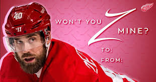 hockey valentines cards michigan teams say happy s day with pun filled player