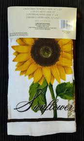 cute kitchen decorating themes sunflower towels shop style