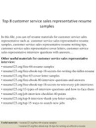 Customer Service Supervisor Resume Customer Service Sales Representative Resume Free Resume Example