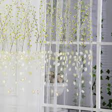 amazon com comemall thin see through leaves pattern curtain