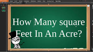 Square Miles To Square Feet How Many Feet In An Acre Youtube