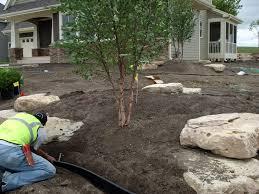 backyard stone outcropping u0026 garden landscape gal