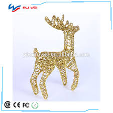 Giraffe Christmas Decorations by Christmas Decorations 30cm Gold Silver Christmas Deer Small Iron